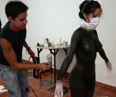 Bodypaint Venezuela Modelo Michelle Lewin