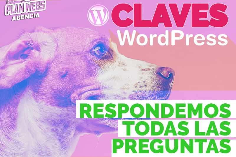 CLAVES DE USAR WORDPRESS